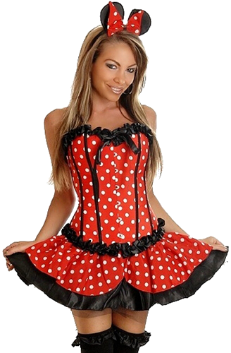 mini mouse corset costume with free gift great quality. Black Bedroom Furniture Sets. Home Design Ideas