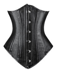 Leather Look Steel Boned Waist Cincher