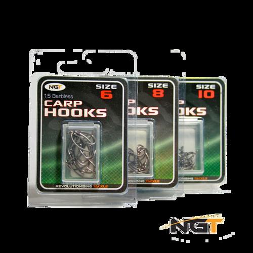 NGT Barbed Curve Shank Carp Hooks