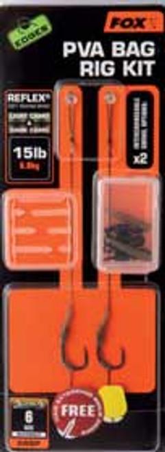 Fox EDGES™ Size 8 PVA Bag Rig Kit