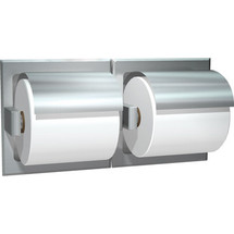 ASI (10-74022-HBD) Recessed Dual Roll Toilet Paper Holder with Hood-Bright, For Dry Wall Installation