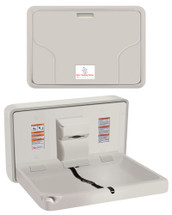 ASI (10-9014) Surface Mounted Horizontal Baby Changing Station