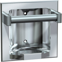 ASI (10-7410-SD) Recessed Soap Dish with Bar, Satin, For Dry Wall Installation