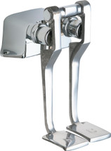 Chicago Faucets (625-LPSLOABCP) Hot and Cold Water Pedal Box with Long Pedals