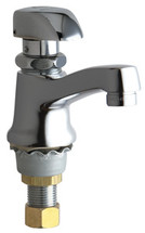 Chicago Faucets (335-E12HOTABCP)  Single Supply Metering Sink Faucet