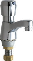 Chicago Faucets (333-665PSHVPAABCP)  Single Supply Metering Sink Faucet