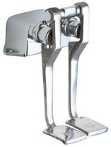 Chicago Faucets (625-LPABRCF)  Hot and Cold Water Pedal Box with Long Pedals