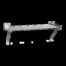 """ASI (10-7309-24S) Towel Shelf, 24"""", Surface Mounted, Satin"""