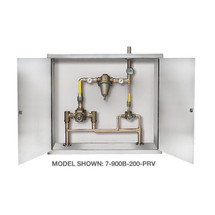 **Symmons (7-1000B-102-PRV) TempControl Hi-Low Thermostatic Mixing Valve and Piping System in Cabinet