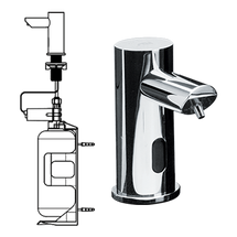 ASI (10-0394-1AC) EZ Fill - Individual, STAND-ALONE FOAM Soap Dispenser w/ 1 L Bottle - (AC Plug In) - POLISHED FINISH