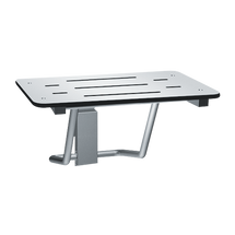 "ASI (10-8203-33) Folding Shower Seat - Rectangular, ADA - Solid Phenolic, White - 33""W"