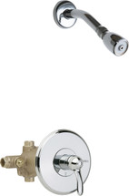 Chicago Faucets (1907-CP) Thermostatic Pressure Balancing Tub and Shower Valve with Shower Head