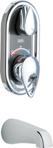 Chicago Faucets (2501-CP) TempShield Thermostatic Pressure Balancing Shower Valve with Diverter Tub Spout
