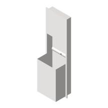 ASI (10-0469-BL) 18 Gallon Paper Towel Dispenser & Waste Receptacle