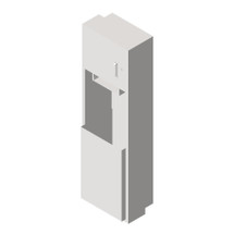 ASI (10-04692-6) Semi-Recessed Roll Paper Towel Dispenser and Waste Receptacle