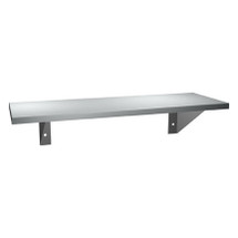 "ASI (10-0692-616) Surface Mounted Shelf 6"" X 16"" Stainless Steel"