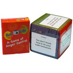 Roll-A-Role: Anger Control Game Cards & 3 Cubes