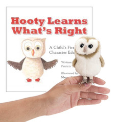 Hooty Learns  What's Right with Owl Finger Puppet