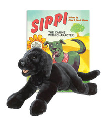Sippi the Canine with Character with Black Lab Puppet