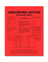 Anger-Control Activities for Grades 7-12