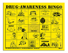 Drug Awareness Bingo for Grades 6-9