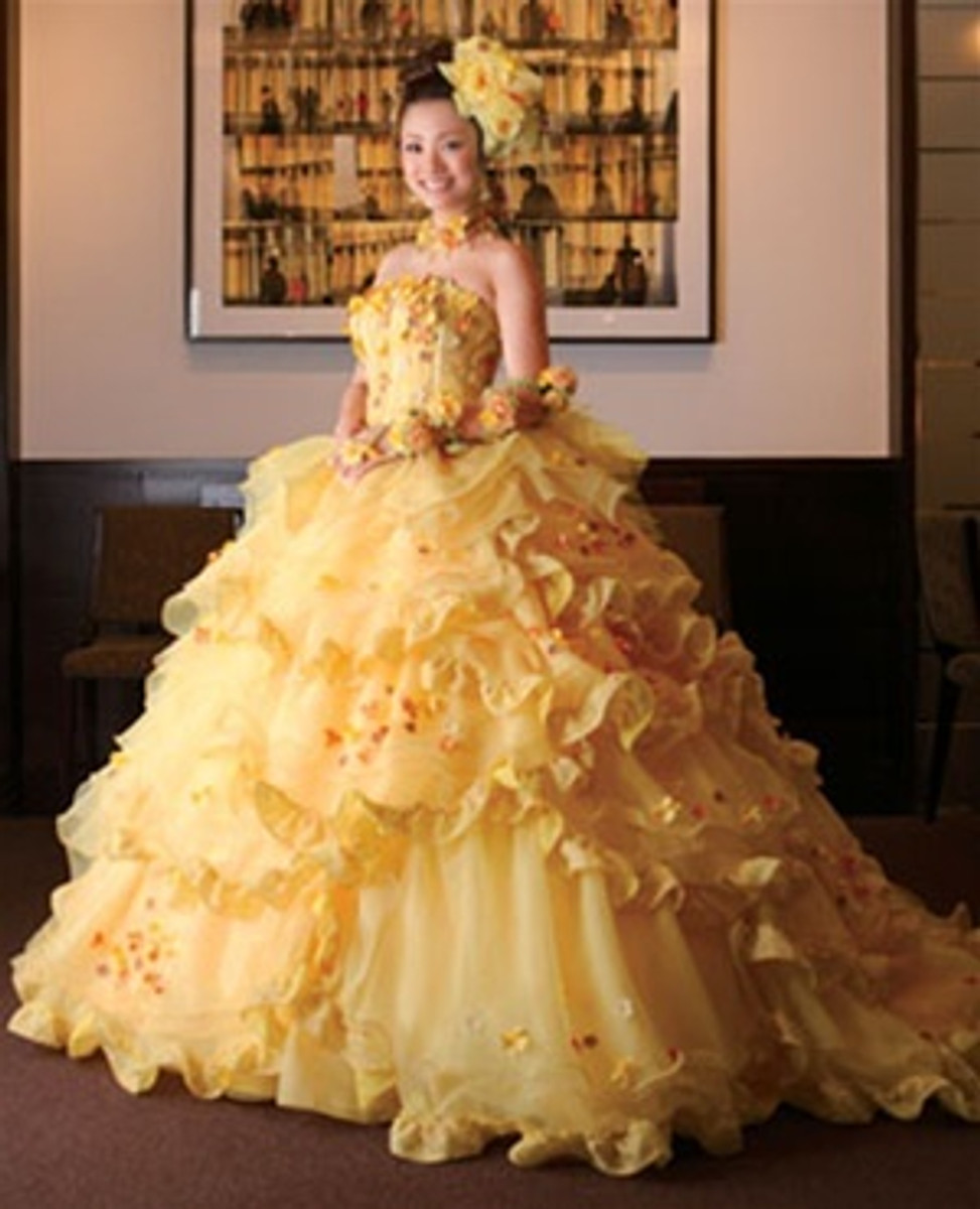 Yellow Belle Wedding Dress Beauty and the Beast