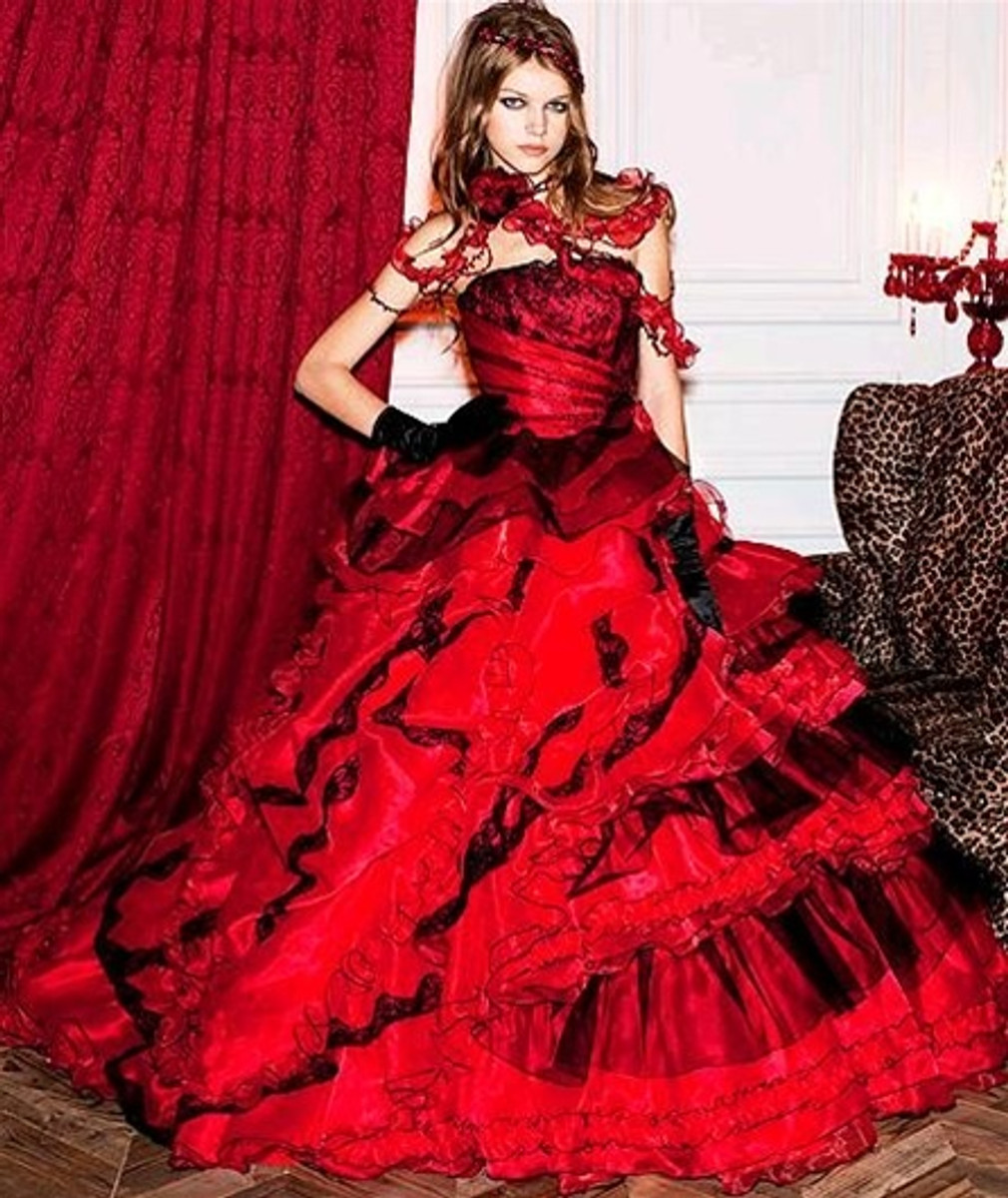 25+ cute Red wedding dresses ideas on Pinterest | Red and white ...