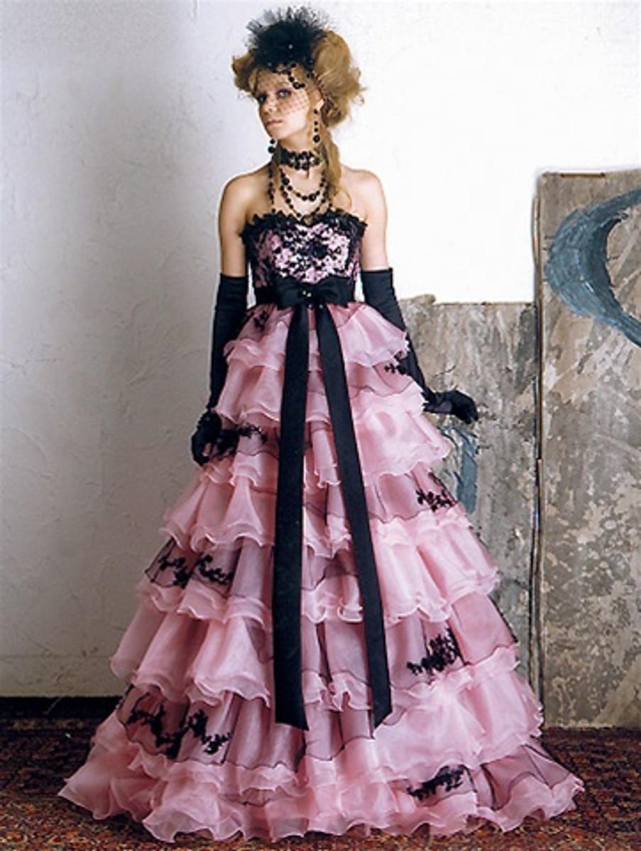 Pink Wedding Dress, Pink Wedding Gown, Pink Bridal Gown, Custom ...