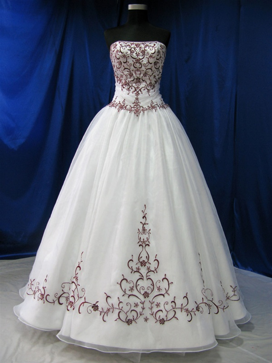 Red and White Wedding Dress - Available in Every Color