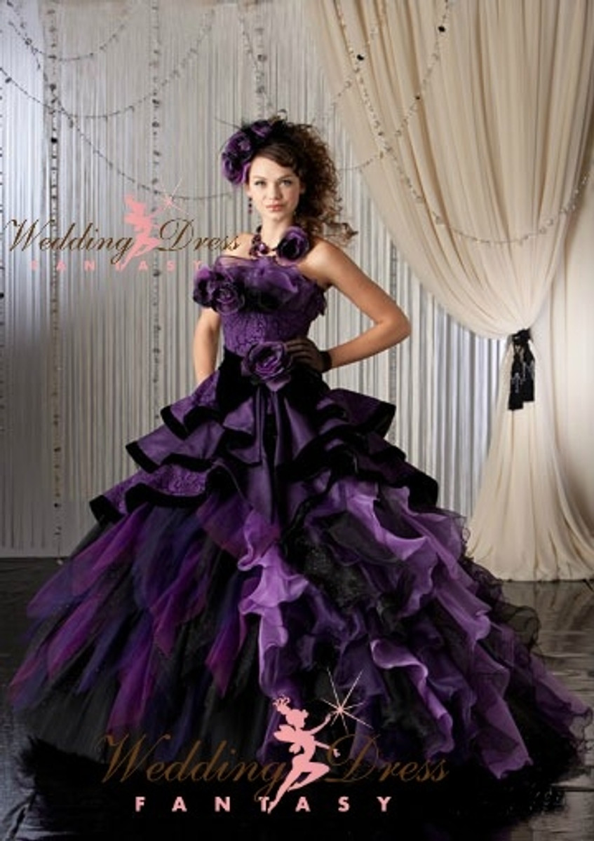 Purple bridal gown purple bridal gown available in every color junglespirit Image collections