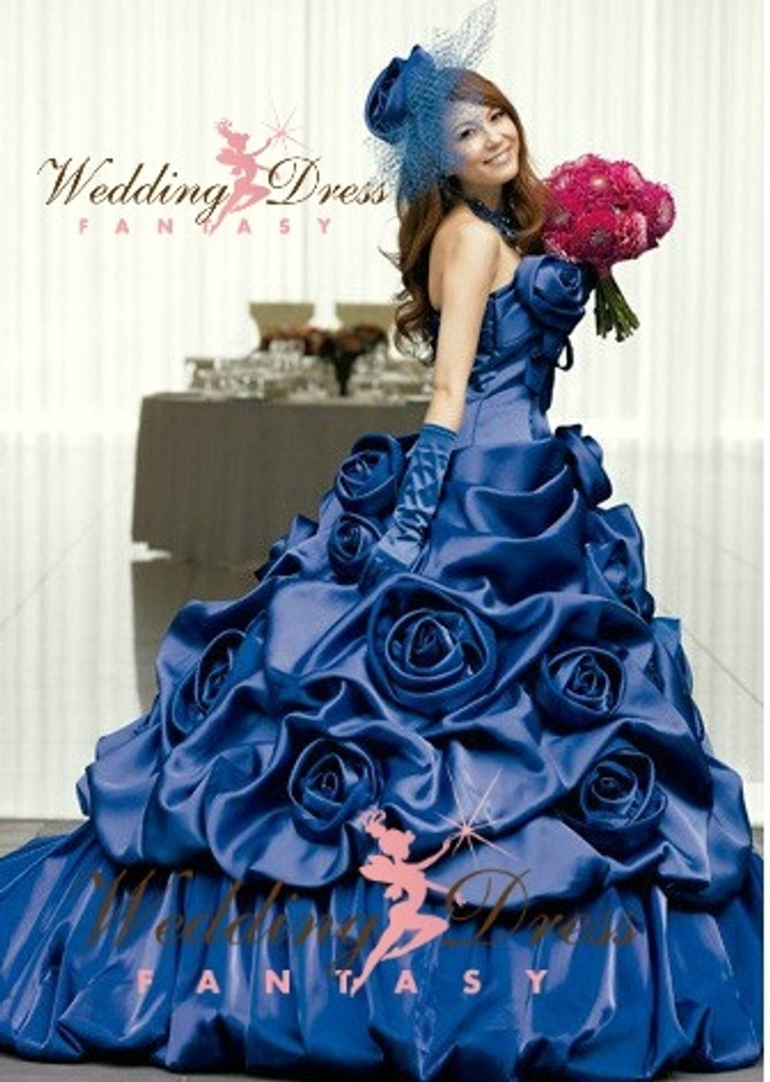 Royal blue wedding dress royal blue wedding dress available in every color junglespirit Gallery