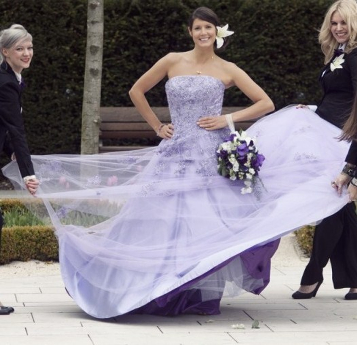 Lavender wedding dress with lace wedding dress fantasy lavender wedding dress junglespirit Image collections