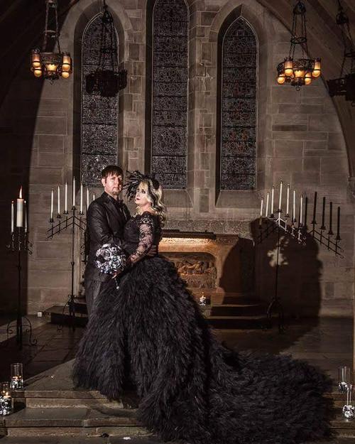 Black wedding dresses junglespirit Choice Image