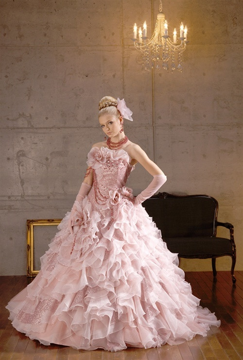 Unique wedding dresses in nj by wedding dress fantasy pink wedding dress with shimmer junglespirit