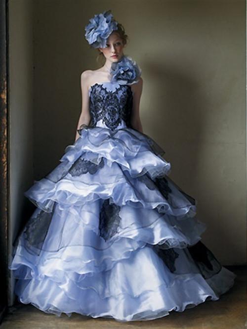 light blue wedding dress