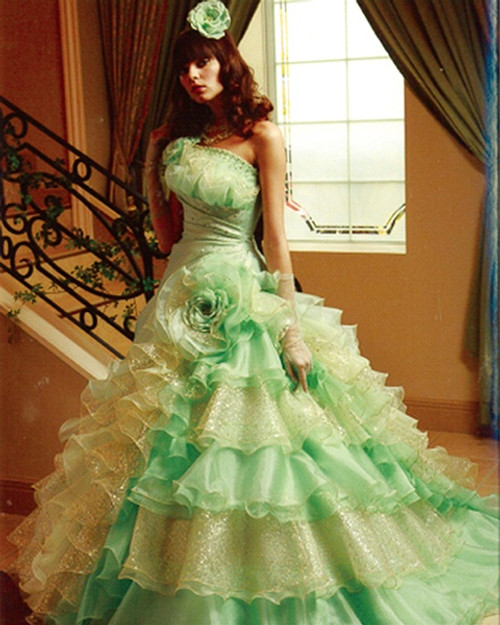 Green wedding dresses lime green wedding dress available in every color junglespirit Image collections