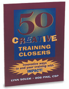 BK: 50 Creative Training Closers