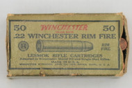 22 Winchester Rim Fire Lesmok Rifle Cartridges 1927 Issue Top