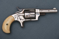 Engraved Hopkins & Allen Mfg Co Ranger No 2 Revolver with Bone Grips Right Side