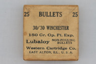 Western Cartridge Co. 30/30 Winchester 150 Gr. Op. Pt. Exp. Bullets Top