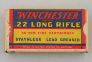 Winchester 22 Long Rifle 1938 Issue Army Lot 153 Top