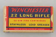 Winchester 22 Long Rifle 1938 Issue Army Lot 155 Top