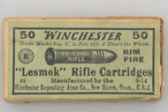 Winchester 22 Long Rifle Lesmok Rifle Cartridges Top