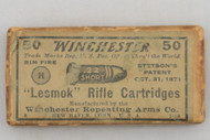 Winchester 22 Short Lesmok Rifle Cartridges top