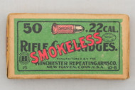 Winchester 22 Short Smokeless Rifle Cartridges  Top