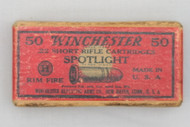 Winchester 22 Short Spotlight Rifle Cartridges 1920 Issue Top