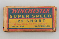 Winchester Super Speed 22 Short 1939 Issue Top