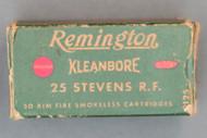 Remington Kleanbore 25 Stevens Rim Fire Ammo Top