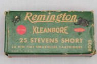 Remington Kleanbore 25 Stevens Short Smokeless Cartridges Top