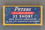 Peters Rustless 32 Short Rim Fire Smokeless Cartridges Top